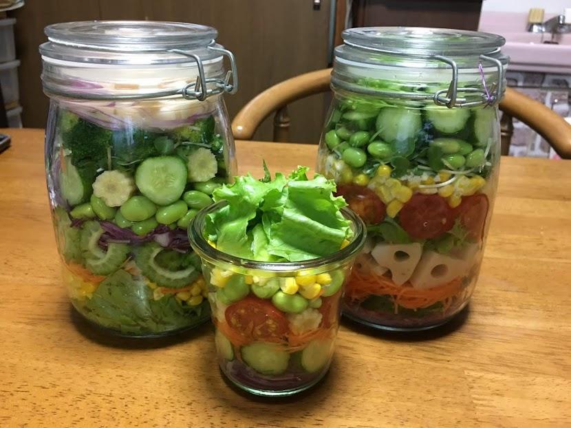 野菜の日 メイソンジャー サラダ